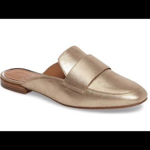 Gold Paolo Loafer Mules